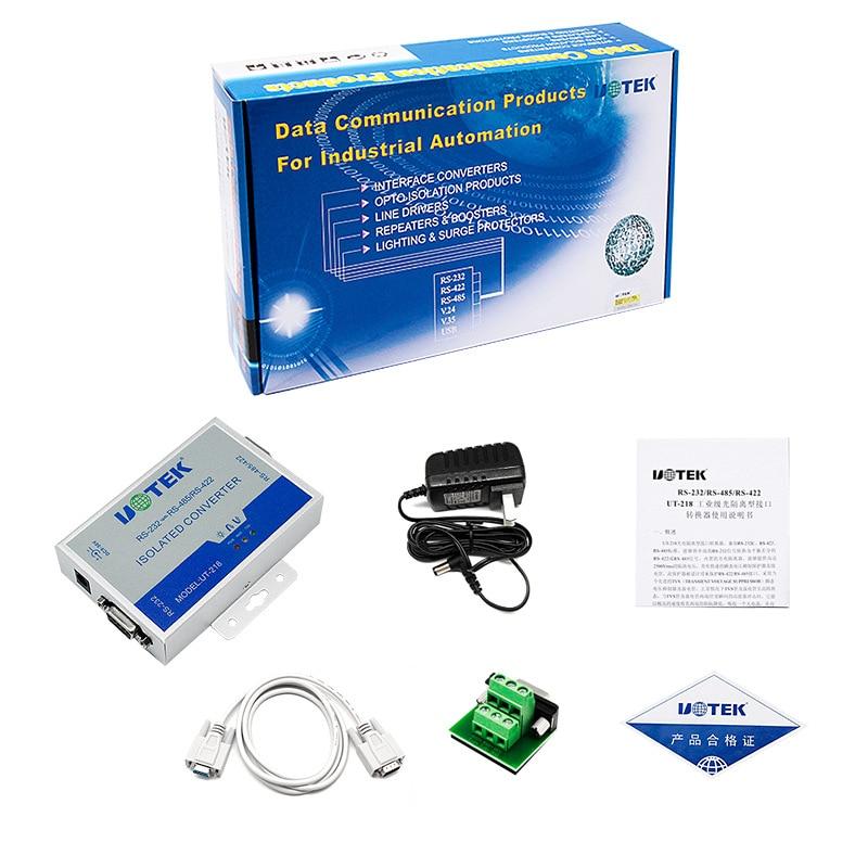 UT 218 RS232 к RS485/422 конвертер Оптическая изоляция усиленная защита от молнии промышленного класса UT 218