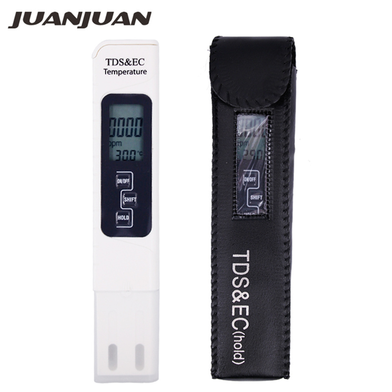 3 IN 1 Water Quality Tester EC TDS PPM Temperature Meter LCD Conductivity Detection Pen Digital Portable Filter Tool 40%OFF