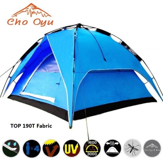 Cho Oyu double layer 3-4 person rainproof outdoor c&ing tent hiking quick automatic Set  sc 1 st  AliExpress.com & Cho Oyu double layer 3 4 person rainproof outdoor camping tent ...
