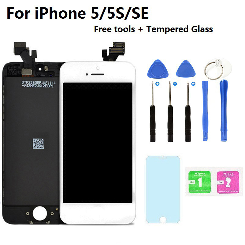 Hot Sale AAA Touch Original Screen Replacement 4.0 LCD Display Digitizer Assembly For IPhone 5S 5C 5 Tempered Glass Repair Tools