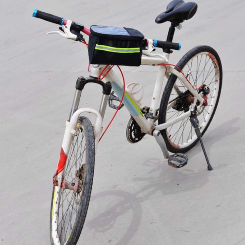 20 Polegada Grande Capacidade Poliéster Da Bicicleta Da Bicicleta Cesta Dianteira Guidão Tubo Durável À Prova D' Água Saco de Desporto Ao Ar Livre Acessórios Hot