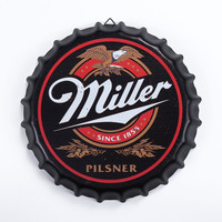 Tin Sign Miller Vintage Metal Painting Beer lid Bar pub Hanging Ornaments Wallpaper Decor Retro Mural Poster Craft 35X35 CM