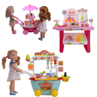 Free Shipping By E packet Doll Accessories Ice Cream Car Super Market Car Food Cart For 14.5 Inch Barbiees American Doll Toy