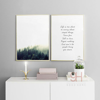 Forest Landscape Canvas Art Print Painting Poster Life Quote Wall Pictures For Home Decoration Wall Decor