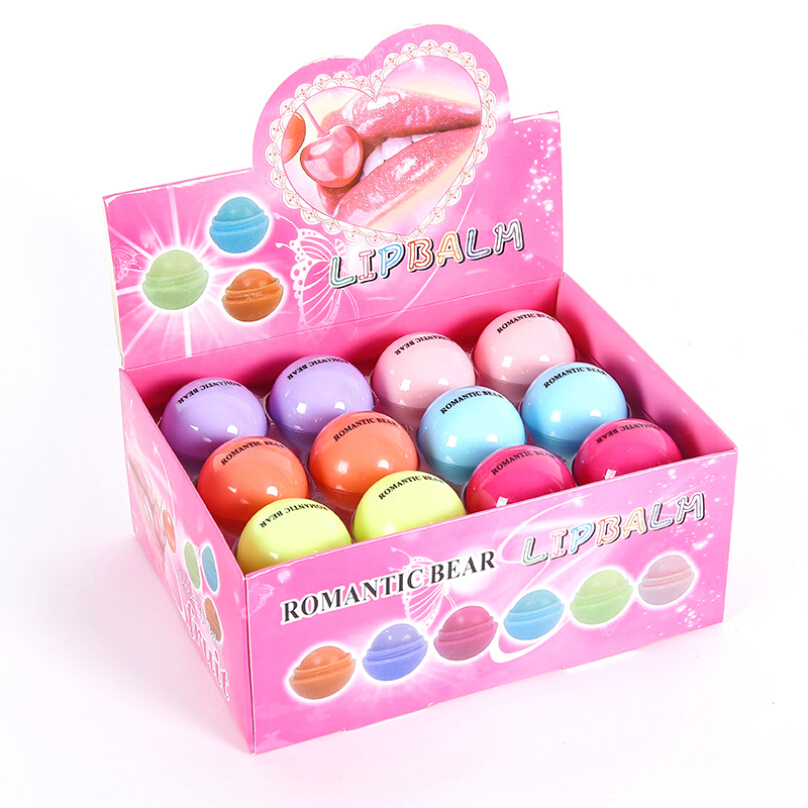 24pcs Lot Romantic Bear Lip Balm Fruity Flavor Baby Lips
