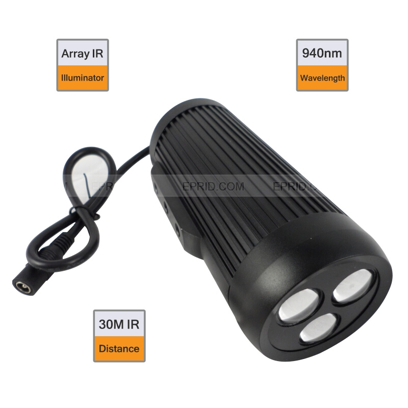 940nm LED Array Light Source 30Degree Invisible IR Illuminator Day Night 30M for CCTV Camera