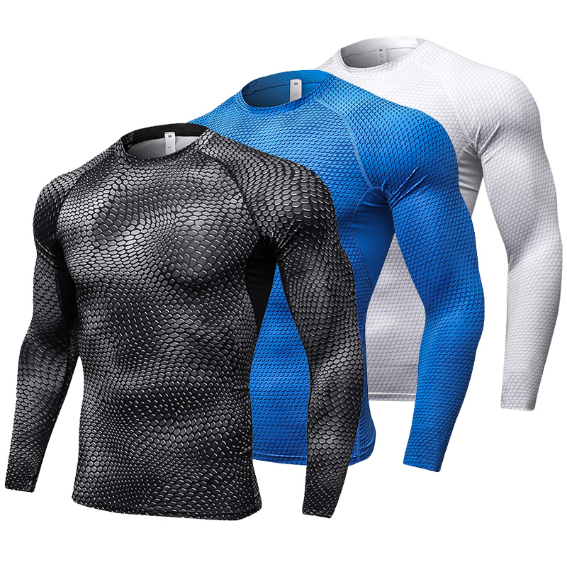 Neue Langarm Sport Hemd Männer Quick Dry Lauf T-shirts Gym Kleidung Fitness Top Crossfit T Shirt Herren Rashgard Fußball jersey