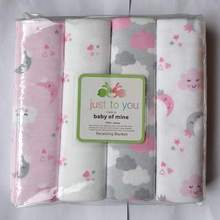 4 pcs/lot newborn Baby bed sheets 100% cotton crib sheet  76 x 76 cm baby bedding set super soft infant sheets for boys girls