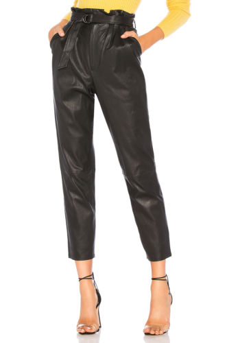 Hirigin 2019 Women Lady Leather High Waist Jegging Stretch Pant With Pockets Belt Trouser