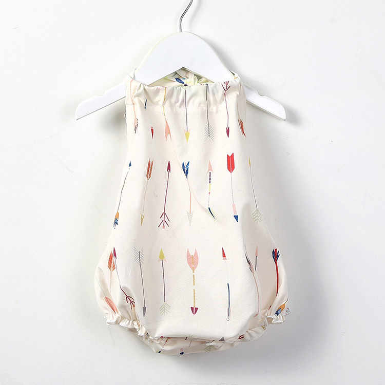Bebé bebé mameluco de chicas flecha impresión mono bebé niña mameluco Verano de 2019 recién nacido niña mono Onesies bebé recién nacido