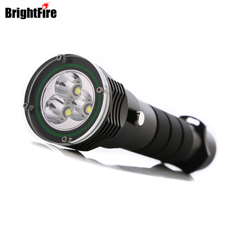W36N 2016 5000Lumens High power diving flashlight 3pcs L2 LED Flashlight diving light 100M waterproof dive torch high power led 6l2 professional diving flashlight magnetic control electrodeless dimming light waterproof flashlight