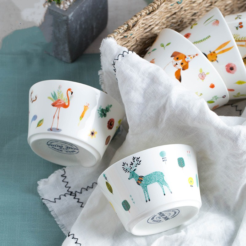 Cute Ceramic small Bowl Korean White Porcelain Bowl Fruit ...  Cute