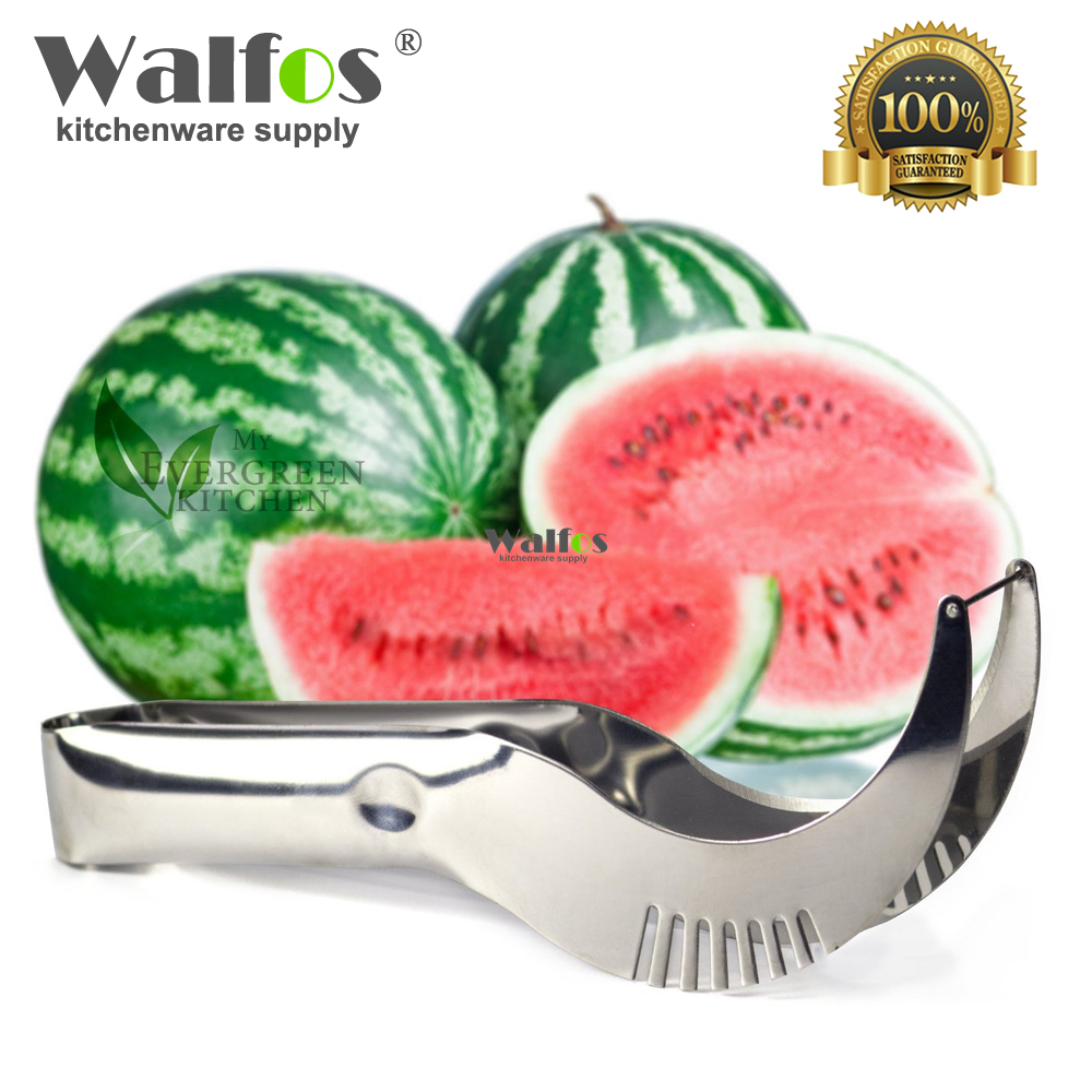 WALFOS Ny ankomst Hot Watermelon Knivskärare Skivare Corer Server Scoop Kök Verktyg Fruit Knife Splitter Slicer Cutter