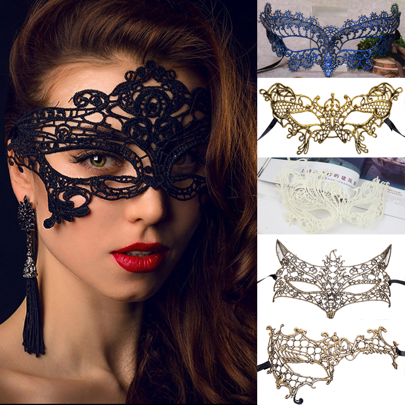 VN Homes Store 1PCS Hot Women Lady Sexy Colorful Lace Eye Mask Party Masks For Masquerade Halloween Costumes Carnival Mask For Anonymous Fancy
