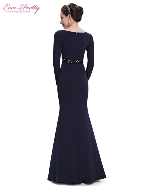 [Clearance Sale] Evening Dress Ever Pretty HE08639 Women Long Sleeve V Neck Vestidos De Noche Longo Mermaid Party Dresses