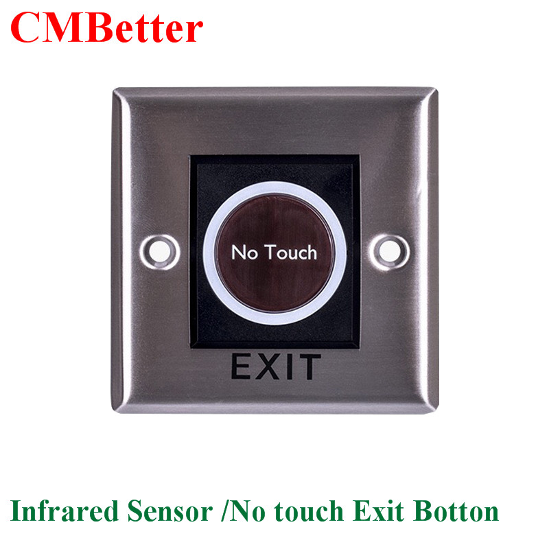 Button Infrared Sensor NO/NC No Touch Push Switch For Door Access Control System Door Square IR Exit Button switch CM127 h16 11w 360lm 6000k 5 led white foglight for car dc12 24v