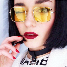 XIWANG 2019 High Quality New Sunglasses Fashionable Retro-vintage Box Metal Square Frame Trend Ocean Women