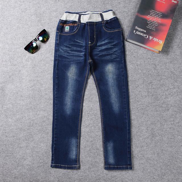 2017 de Diseño de Moda Jeans Para Niños Pantalones Casual Niños Pantalones Casuales Solid Patten AKP165019 Boy Ropa de 12 Años de Edad