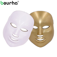Beurha 7 צבעים PDT הסרת אקנה קמטים מסכת פנים פנים פוטון LED סלון יופי טיפול פנים התחדשות עור טיפול באור