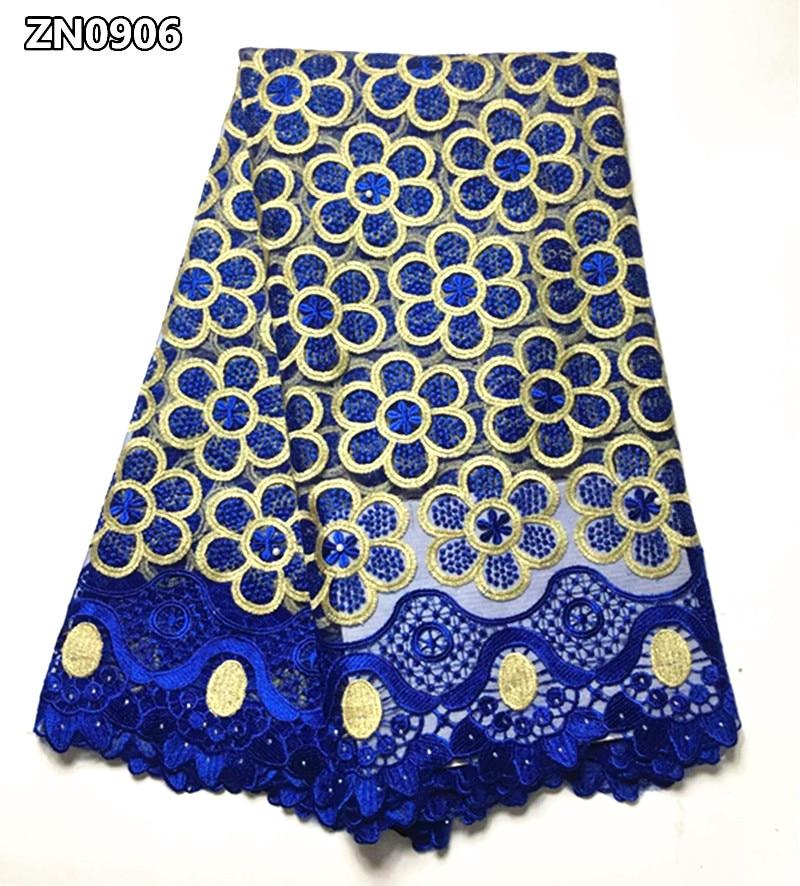 Francia afrikai csipke szövet kiváló minőségű hímzett nigériai hálós csipke, csipkés szövetből 5 méteres hölgy ruha ZN09
