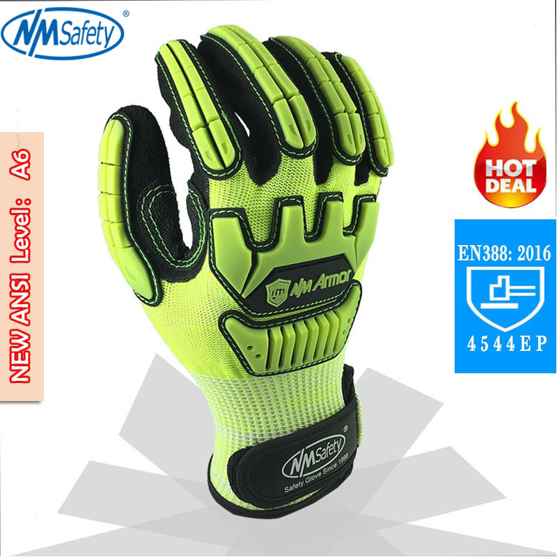NMSafety Anti Vibration Oil Safety Glove Shock Absorbing Anti-Impact Resistant Mechanics Safety Work Glove water absorbing oil absorbing cleaning cloth