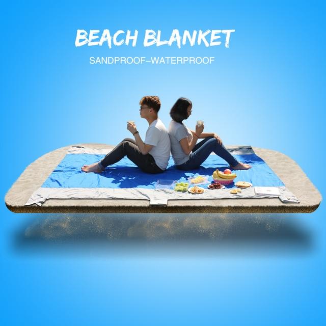 Camping Folding Picnic Mat Portable Pocket Compact Garden Beach mat   Blanket Waterproof Ultralight  270*210cm