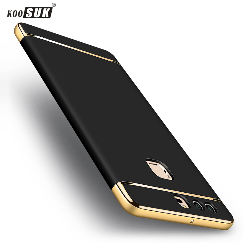 Original KOOSUK phone case For Huawei P9 Cover Luxury Gold Plating 3 in 1 Hard Plastic Phone Cases For Huawei Ascend P9 Shell