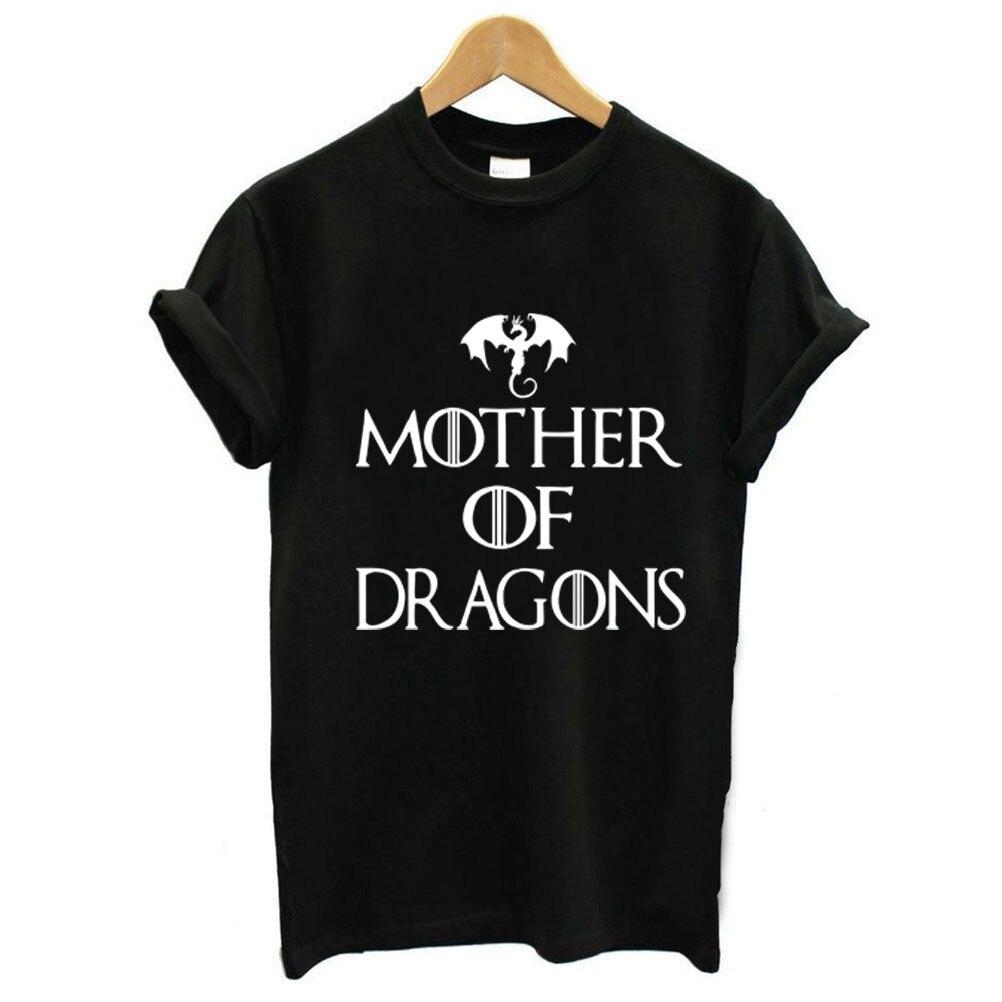 Mother Of Dragons Letter Print T Shirt Women Short Sleeve O Neck Loose Tshirt 2019 Summer Women Tee Shirt Tops Camisetas Mujer