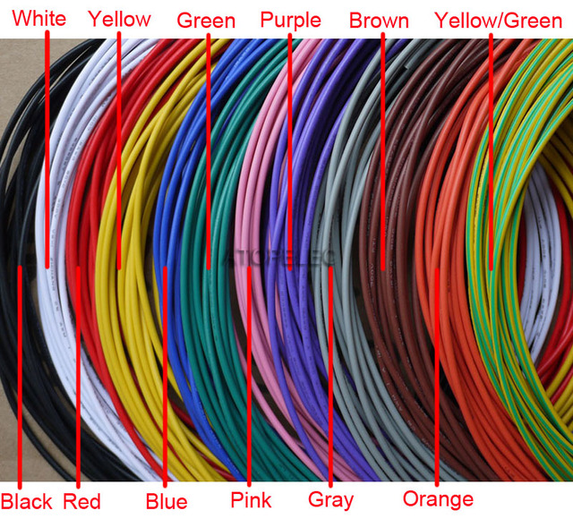 5M 18AWG OD_2mm UL1007 PVC Tinned Copper Stranded Wire Cable Cord ...