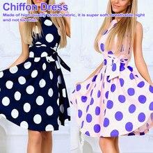 Summer New Polka Dot Print Waist Belt Wrapped Chest Ruffled Large Swing Open Casual Dress swing dress все цены
