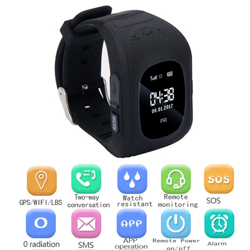 GPS Smartwatch for Kids SOS Call Location Finder Locator Tracker Anti Lost Monitor Baby Son Wristwatch Children Safe Best Gifts