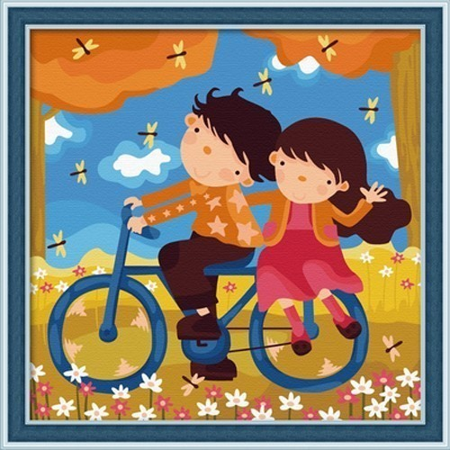 Diy digital oil painting decoration oil painting cartoon figure lifetime 30