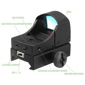 Image 4 - GUGULUZA Red Dot Sight Scope Tactical Mini Compact Holographic Adjustable Brightness Micro Reflex Red Dot Light Rifle Pistol