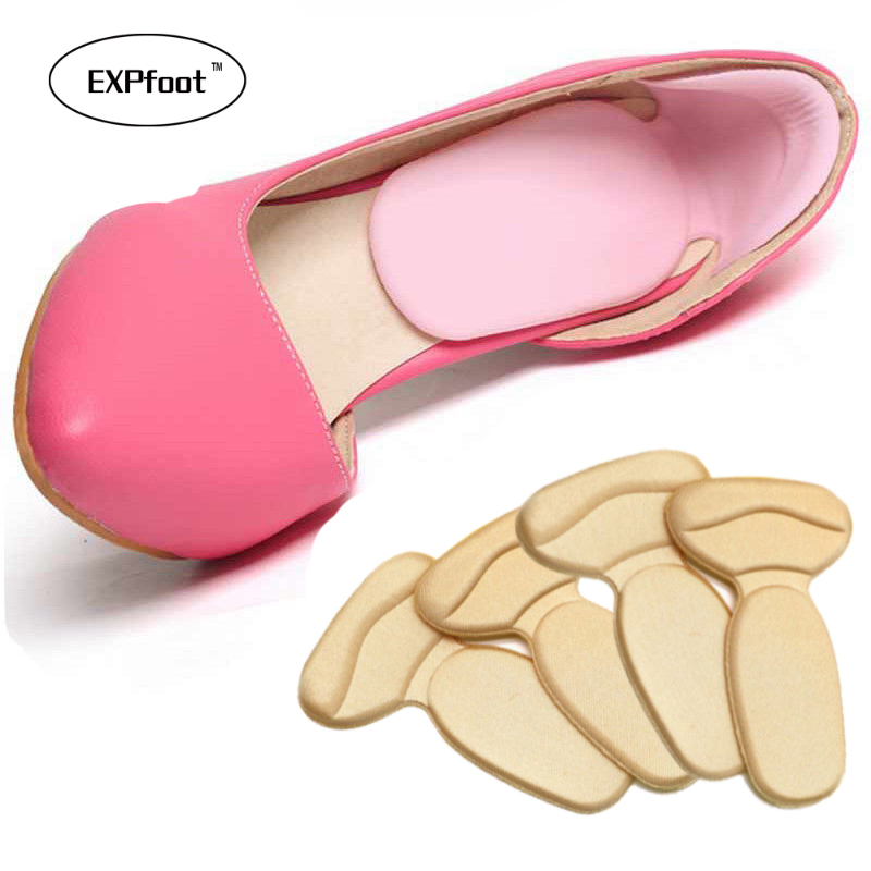 4 Pairs Soft T-Shape High Heel Grips Liner Arch Support Orthotic Shoes Insert Insoles Foot Heel Protector Cushion Pads for Women socomfy men women gel orthotic support insoles heel arch foot blisters sport pad cushion