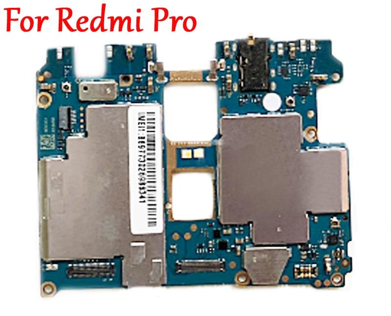 Tested Full Work Original Unlock Motherboard For Xiaomi Hongmi Redmi Pro Logic Circuit Board Electronic Plate