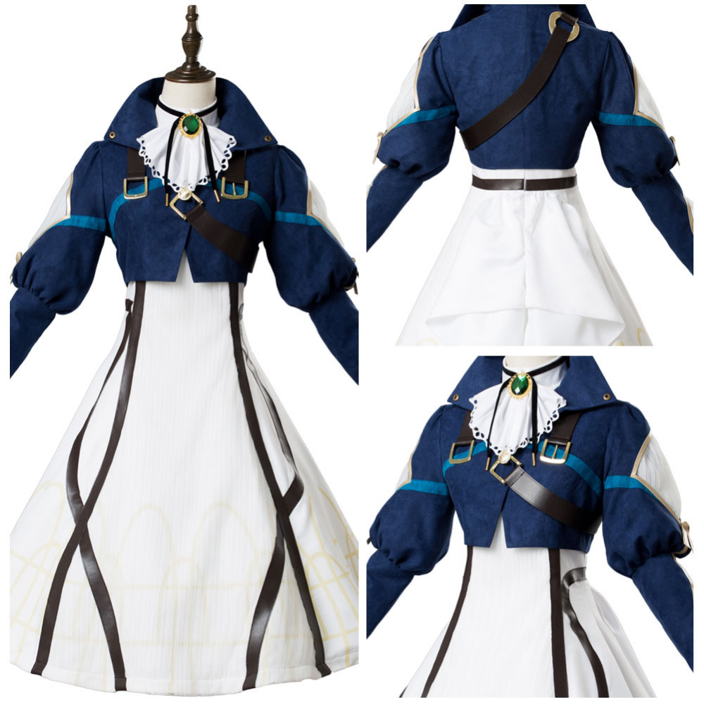 Violet Evergarden Cosplay Auto Memory Doll Cosplay Costume Maiden Dress Suit Gown