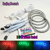 Multi-Color Changeable LED Halo Angel Eye Rings kit for BMW E30 E32 E34,120mm 42SMD RGB led angel eyes for bmw