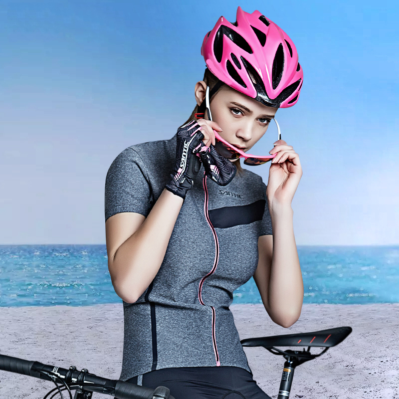 Santic Women Cycling MTB Jersey Pro Fit Summer SANTIC N-FEEL Road Bike Riding Shirt Downhill
