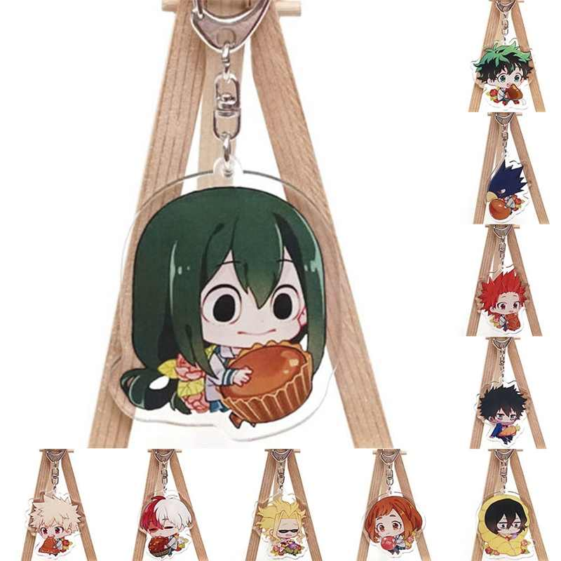 My Hero Academia Anime Boku No Hero Academia Collection Cute Food Cake Fashion Acrylic Keyrings 1Pc Anime Keychain 10 Styles!!!