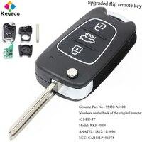KEYECU Upgraded Keyless Entry Flip Remote Control Car Key 433MHz ID46 Chip FOB for Hyundai I30 II 2013 2017 P/N: 95430 A5100