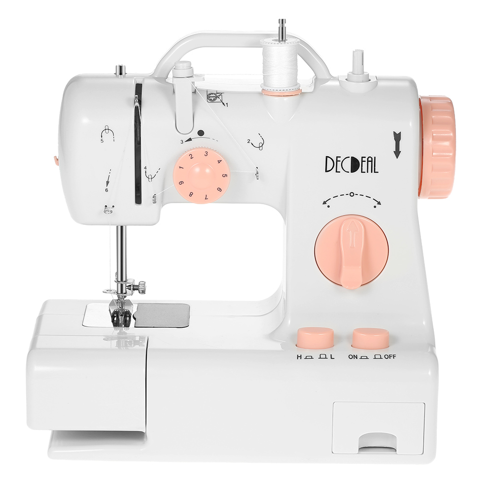 Multifunctional Electric Household Sewing Machine Knitting Machine 2 Speed Adjustment With Light Foot Pedal US UK EU Plug