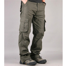 Brand New Men Cargo Pants Casual Pant Multi Pocket Military Overall High Quality Mens Outdoors Long Trousers Plus size 30-44