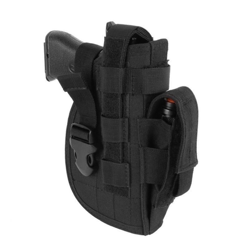 Nuevo táctico avanzado universal pistola mano derecha molle pistolera modular combate airsoft cintura cinturón nylon