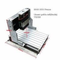Square Line Rail Track Aluminum CNC Frame 3040 DIY Engraving Machine Kit