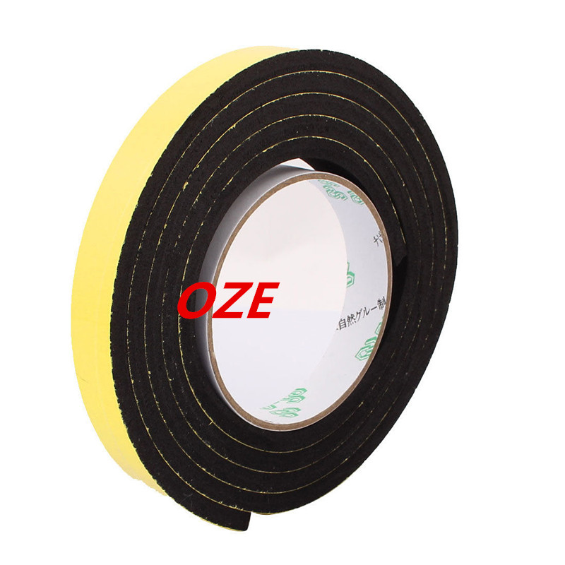 1PCS 15mm x 6mm Single Sided Self Adhesive Shockproof Sponge Foam Tape 2M Length 1pcs single sided self adhesive shockproof sponge foam tape 2m length 6mm x 80mm