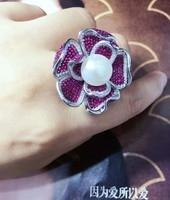 Новые ювелирные изделия кольца Qi Xuan_Freshwater жемчуг Ring_S925 чистого серебра модные отбирает первоклассный пресноводный жемчуг Ring_Manufacturer прямые