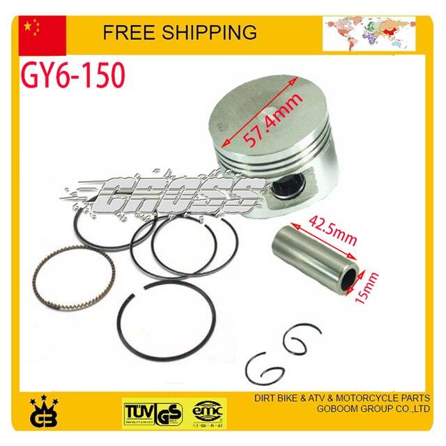 Gy6 150сс поршневое кольцо булавка комплекты комплект двигатель аксессуары