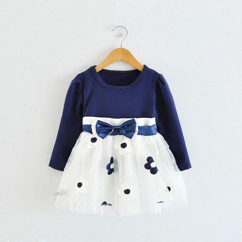 Коллекция года, зимнее платье с длинными рукавами для маленьких девочек, платье на крестины, день рождения, возраст от 0 до 2 лет, платье для новорожденных повседневная одежда для детей повседневная одежда
