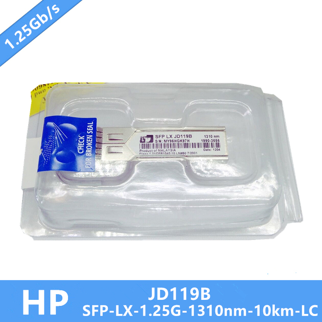 100% New JD119B SFP Transceiver Module DDM Gigabit 1000Base LX, SMF, 1310nm 10km Need more pictures, please contact me