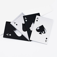 Stainless Steel Poker Card Bottle Opener Playing of Spades Soda Beer Cap Outdoor Tools Kitchen Gadgets